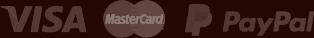 We accept Visa, Mastercard, and Paypal.
